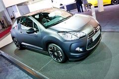 Black car Citroen DS3 Stock Images