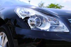 Black car damaged Royalty Free Stock Image