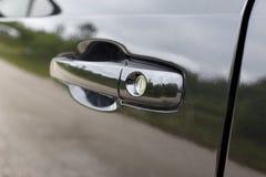 Black car door handle Royalty Free Stock Photos