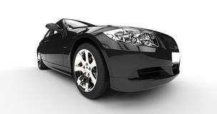 Black Car - Extreme Closeup Headlights Stock Image