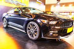 Black car - the Ford Mustang. Nanjing International Auto Show, a black Ford Mustang royalty free stock photography
