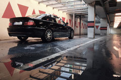 Black car in the garage, BMW E46 Coupe Stock Photos