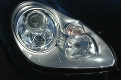 Black car headlight Royalty Free Stock Photography