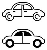 Black car icon Stock Photos