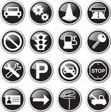 Black car icon set Royalty Free Stock Photography