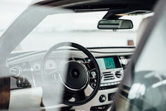 Black Car Interior Stock Photography