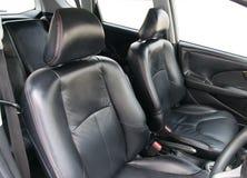Black car interior. Royalty Free Stock Image