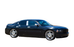 Black car isolated Royalty Free Stock Photo