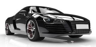 Black car. Isolated on white background Royalty Free Stock Photos