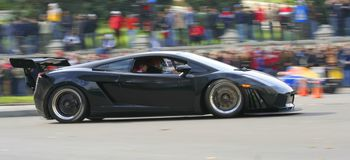 black car ix race Στοκ Φωτογραφία