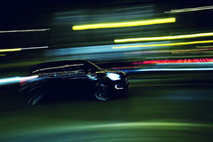 Black car during the journey Stock Photography
