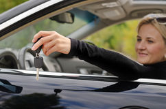 Black car key Stock Photos