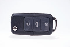 Black car key with remote central locking Royalty Free Stock Photography