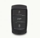 Black car key with remote central locking Royalty Free Stock Image