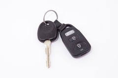 Black car keys and key chain alarm Royalty Free Stock Images