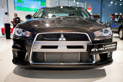 Black car Mitsubishi  Lancer Evolution Royalty Free Stock Image