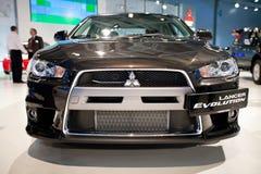 Black car Mitsubishi  Lancer Evolution Royalty Free Stock Image