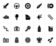 Black Car part and services icons 1. Vector icon set vector illustration