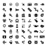Black car parts icons Royalty Free Stock Photos