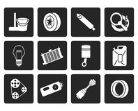 Black Car Parts and Services icons royalty free illustration