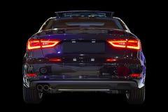 Black car, red lights. Black background Royalty Free Stock Image