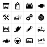 Black Car service maintenance icons. Vector icon set vector illustration