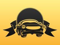 Black car sign. Royalty Free Stock Image