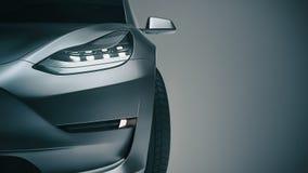 black car sports τρισδιάστατες απόδοση και απεικόνιση Στοκ φωτογραφία με δικαίωμα ελεύθερης χρήσης
