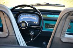 Black Car Steering Wheel royalty free stock photo