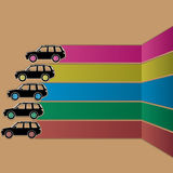 Black car sticker and stripe color Royalty Free Stock Photo