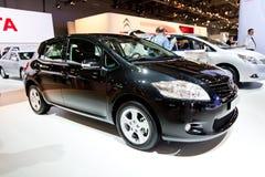 Black car Tayota Auris Stock Images