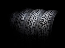 Black car tire Stock Photo