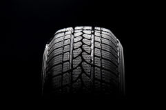 Black car tire Royalty Free Stock Image