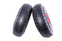 Black car tires Royalty Free Stock Photos