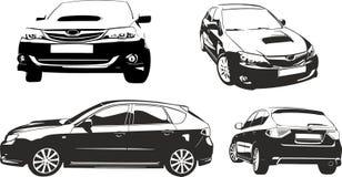 Black  car vector ilustratiaon. Black and vhite car vector ilustratiaon suitable for cutter plotter Royalty Free Stock Photo