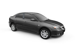Black Car w/ Clipping Path Stock Images