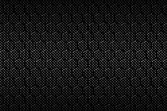 Black carbon fiber hexagon pattern. Background and texture. 3d illustration Stock Photography