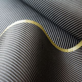 Black carbon fiber twill composite material background Royalty Free Stock Photography