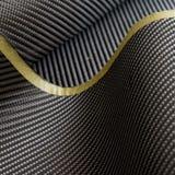 Black carbon fiber twill composite material background Stock Photo