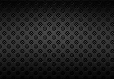 Carbon metal background with holes. Black carbon metal background with holes stock illustration