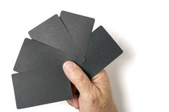 Black card Stock Image