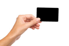 The black card Royalty Free Stock Photos