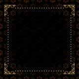 Black card with gold frame - vector Stock Photos