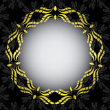 Black card with golden frame in the center - eps Royalty Free Stock Photos