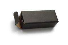 Black cardboard box Stock Images