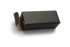 Black cardboard box Stock Images
