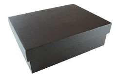 Black cardboard box Stock Photography