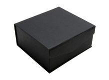 Black cardboard box Royalty Free Stock Images