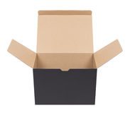 Black cardboard box Stock Photos