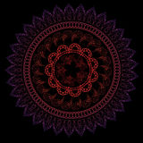 Black cards with half lace mandalas Royalty Free Stock Images